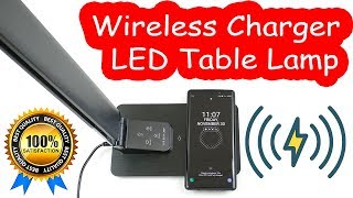 Gerintech Wireless Charger LED Table Lamp (Best Gifts for the Holiday Season) [4K] 60fps