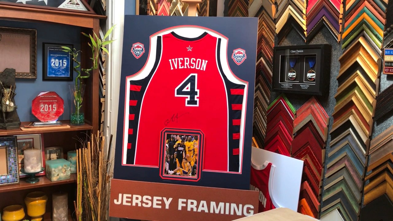 Framing a signed nba basketball jersey with photos and team logos framing a signed nba basketball jersey with photos and team logos solutioingenieria Choice Image