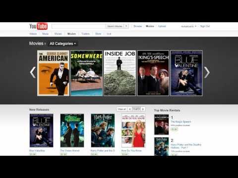 YouTube Movie Rentals
