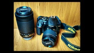 Unboxing Nikon D3400 camera 18-55 amp 70-300 DX VR lens WithMe StayAtHome
