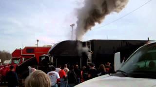 Runaway diesel generator at race track