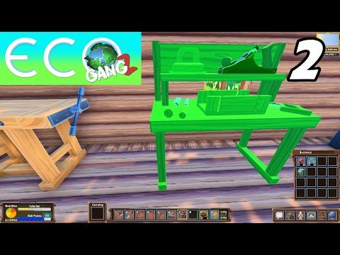 ECO GangZ | Ep. 2 | Unlocking Tailoring Profession! (Eco Gameplay)