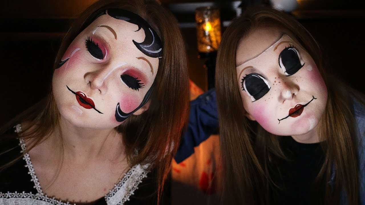 the strangers masks done in makeup no body paint required youtube