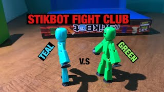 Stikbot Fight Club 1 | Teal v.s Green | #Stikbot