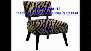 Accent Chairs Review : Microfiber Accent Chair, Zebra Print