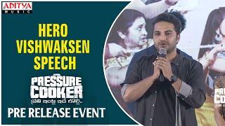 Hero Vishwaksen Speech @ Pressure Cooker Movie Pre Release Event   Sai Ronak, Rahul Ramakrishna