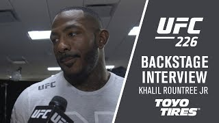 UFC 226: Khalil Rountree 'I Can Rest Easy Tonight'