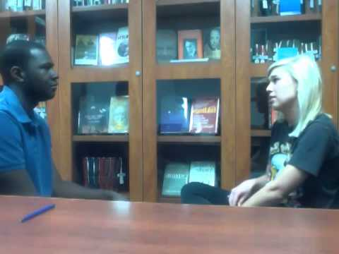 Jeremey Hunter and Kimberly Weis- counseling session