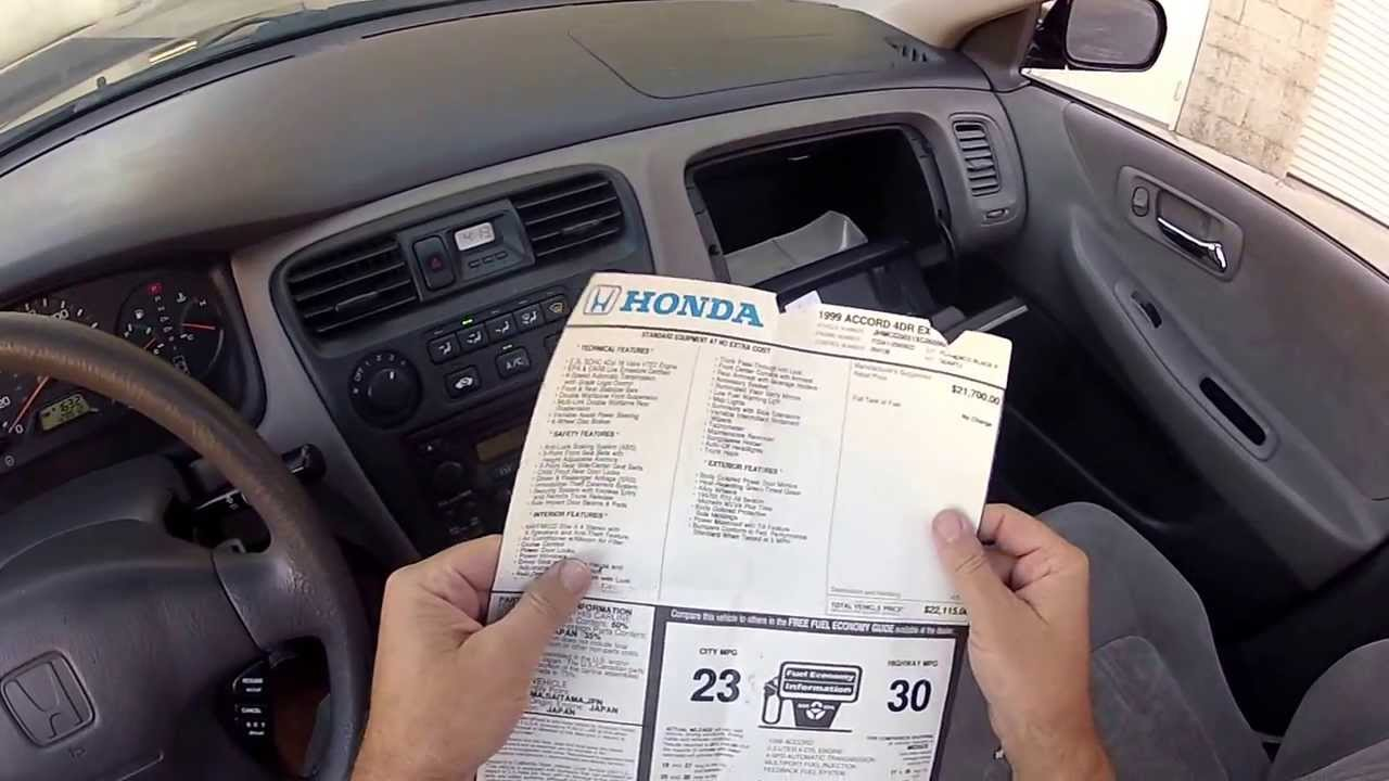 Interior Inspection Tour 1999 Honda Accord Ex 4door Vtech 4cyl Automatic Youtube