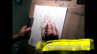 Dolly Parton-Caricatures By Alex