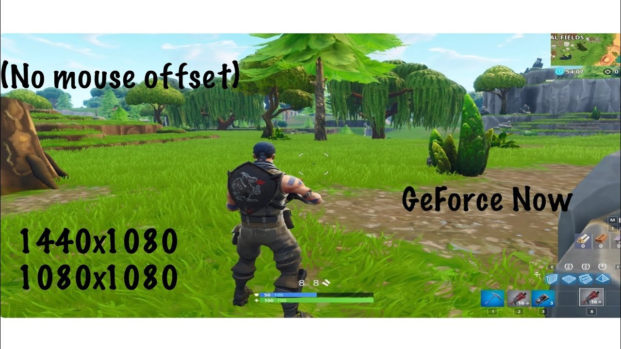 How to play Stretched on Fortnite with Nvidia GeForce Now (no mouse offset)  (Mac users)