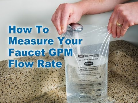 Save Water & Energy: Find Out Your Faucet GPM Flow Rate - YouTube