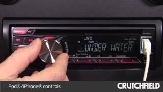 JVC KD-R650 Display and Controls Demo   Crutchfield Video