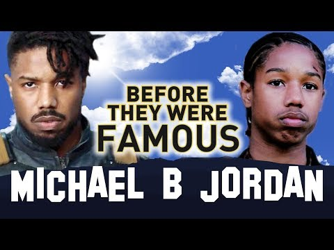 MICHAEL B JORDAN  Before They Were Famous  BLACK PANTHER