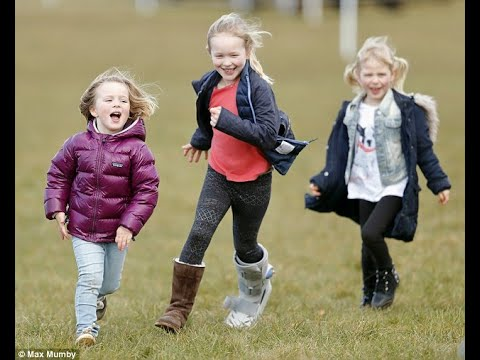 Little Miss Mia! Pregnant Zara Tindall's daughter, four, is full of energy as she plays with