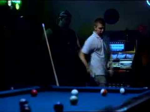 Kevin Horton commercial - Biker pool hall dance-off challeng