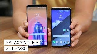 Galaxy Note 8 vs. LG V30: ¿Cuál es el mejor celular Android?