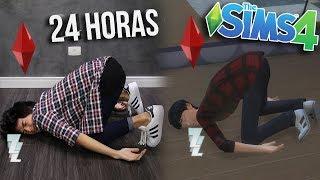 IMITEI MEU 'Sim' (The Sims 4) POR 24 HORAS!!!