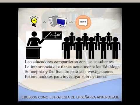 Edublog como estrategia enseñanza aprendizaje
