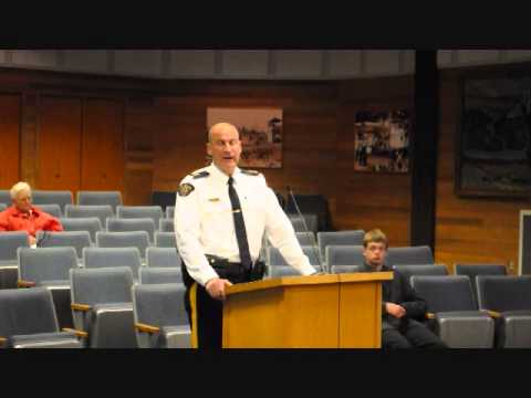 Inspector Warren Brown presents 2012 Williams Lake Crime Stats