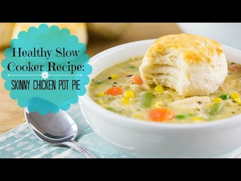 Healthy Slow Cooker Recipe:  Skinny Chicken Pot Pie~Perfect Fall Recipe!