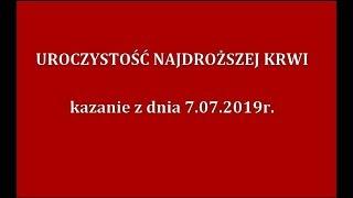 Ks. Natanek - Uroczystość Najdroższej Krwi