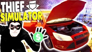 Going to JAIL for Grand Theft Auto BUSTED by POLICE | Thief Simulator Gameplay