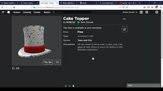 How To Get Cake Topper | Roblox