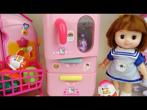 Thumbnail: Refrigerator and baby doll mart toys Doli play