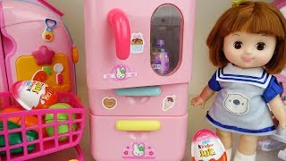 Refrigerator and baby doll mart toys Doli play