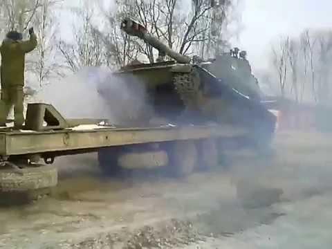 Уронили САУ при погрузке  Черняховск  26 02 2018