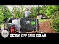 DIY Off Grid Solar: Sizing a Solar Energy System (Part 1)