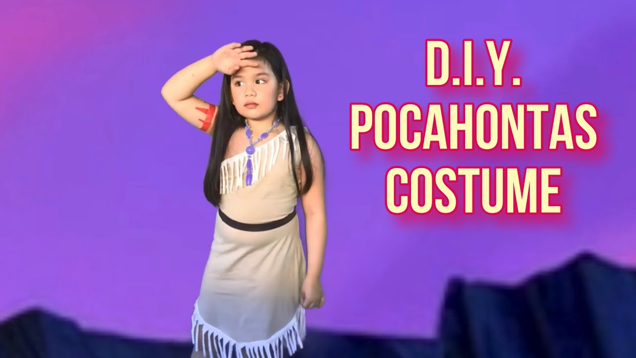 Diy Pocahontas Costume Easiest Diy How To Make Pocahontas Costume Using Only 2 Materials Youtube