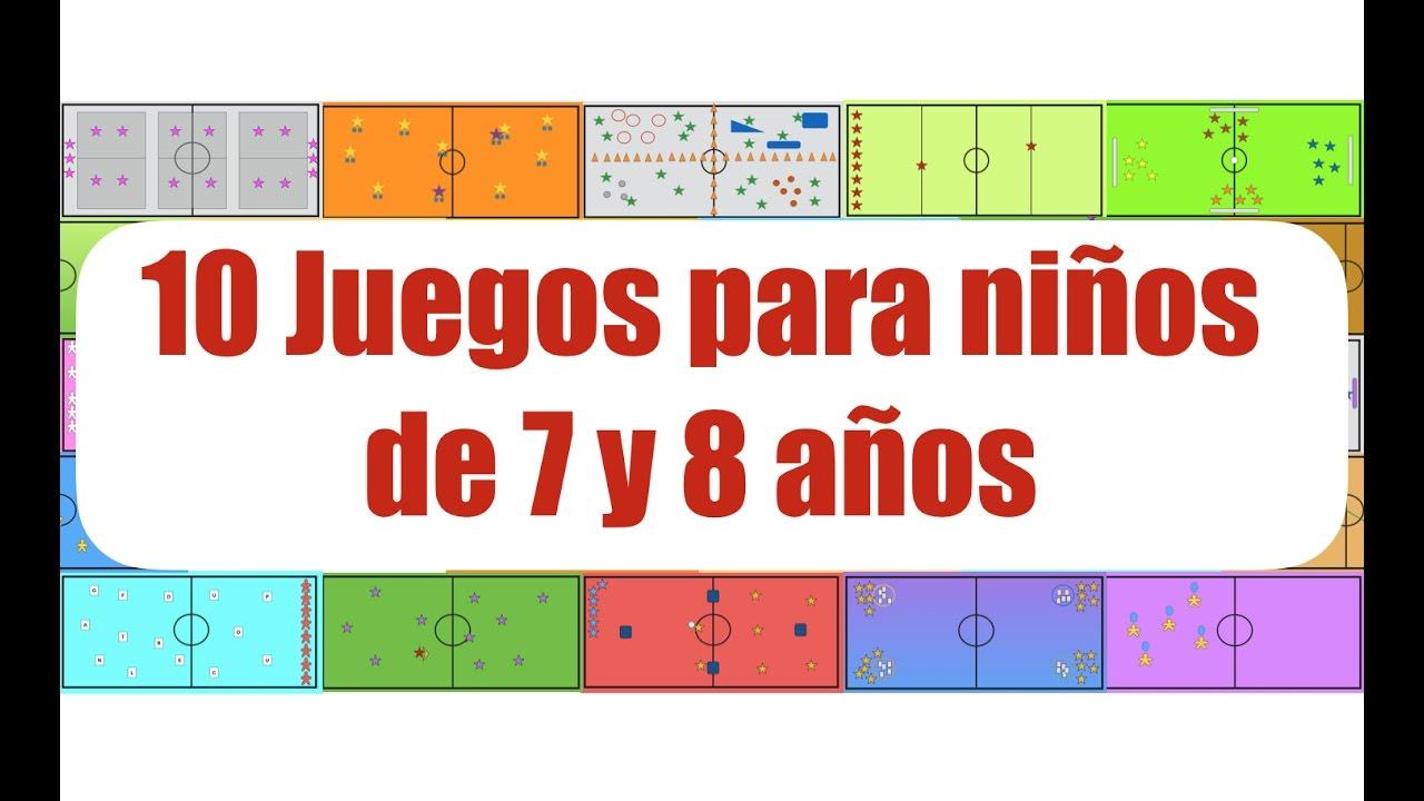 10 Juegos Para Ninos De 7 Y 8 Anos Juegos Educacion Fisica Youtube