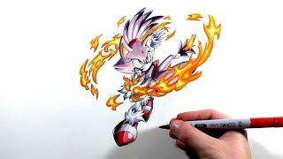 Drawing Blaze The Cat - Sonic Rush