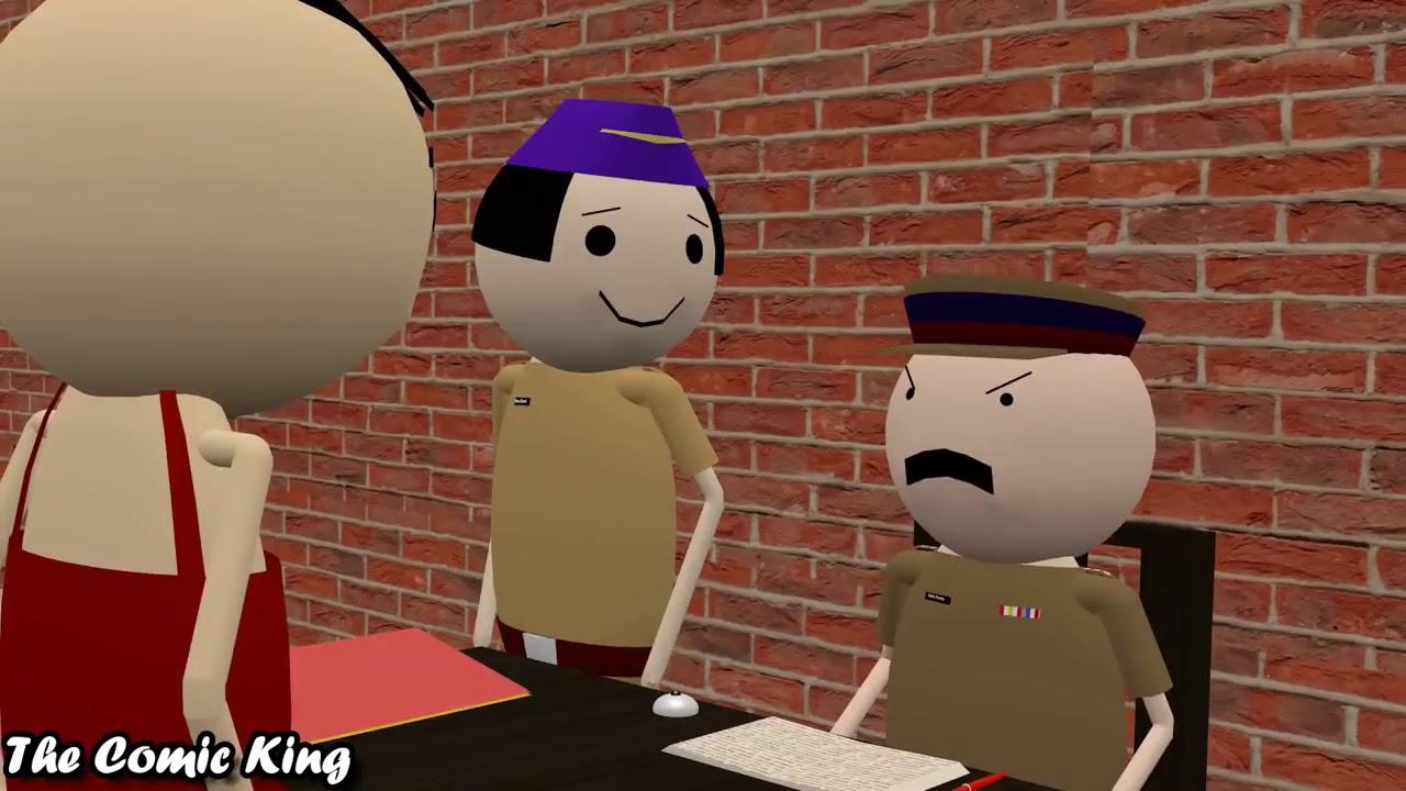 A polis wala comede maik jook