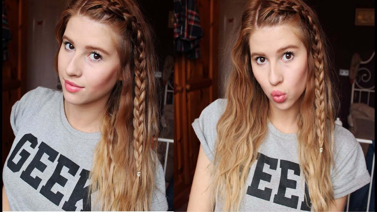EASY BEACH WAVES USING STRAIGHTENERS WITH BRAID Hannah Leigh
