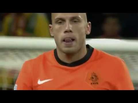 Heitinga RED Card - Spain vs Netherlands world cup 2010 final