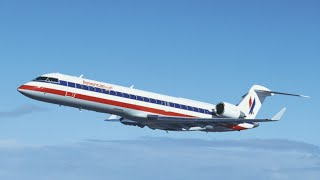 American Eagle CRJ-700 Flight from La Guardia to Charlotte (HD)