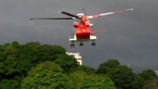 Irish Coast Guard Helicopter Take-Off