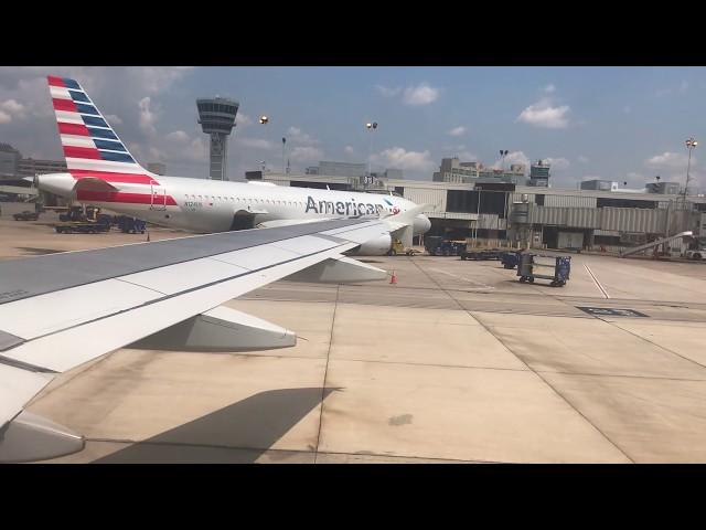 American A319 Landing at Philadelphia PHL International Airport