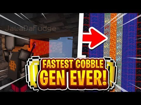 THIS IS THE *FASTEST* COBBLE GEN EVER... | Minecraft Skybloc