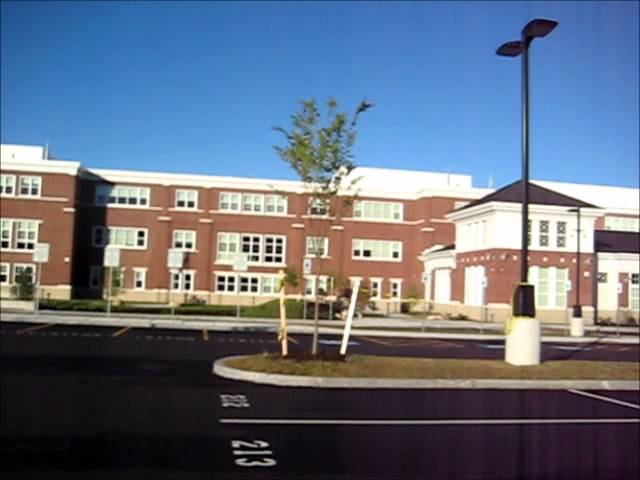 Exterior views Franklin MA High School Franklin MA