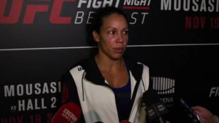 Post-Fight Scrum with Marion Reneau at UFC Belfast