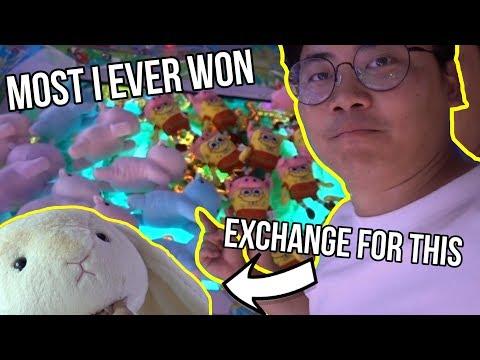 MOST PLUSH WON FROM CLAW MACHINE - Arcade Ninja