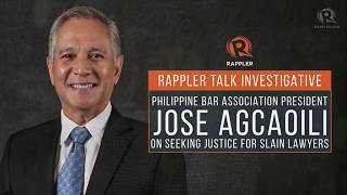 Download Video Rappler Talk: PH Bar Association's Jose Agcaoili on seeking justice for slain lawyers MP3 3GP MP4