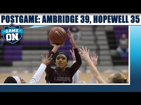 Game On Postgame: Ambridge 39, Hopewell 35