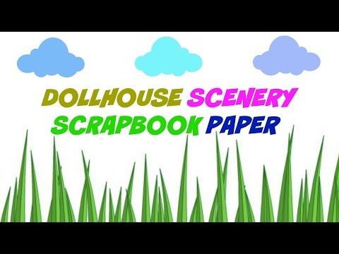 DIY Scrapbook Paper - Clouds & Grass