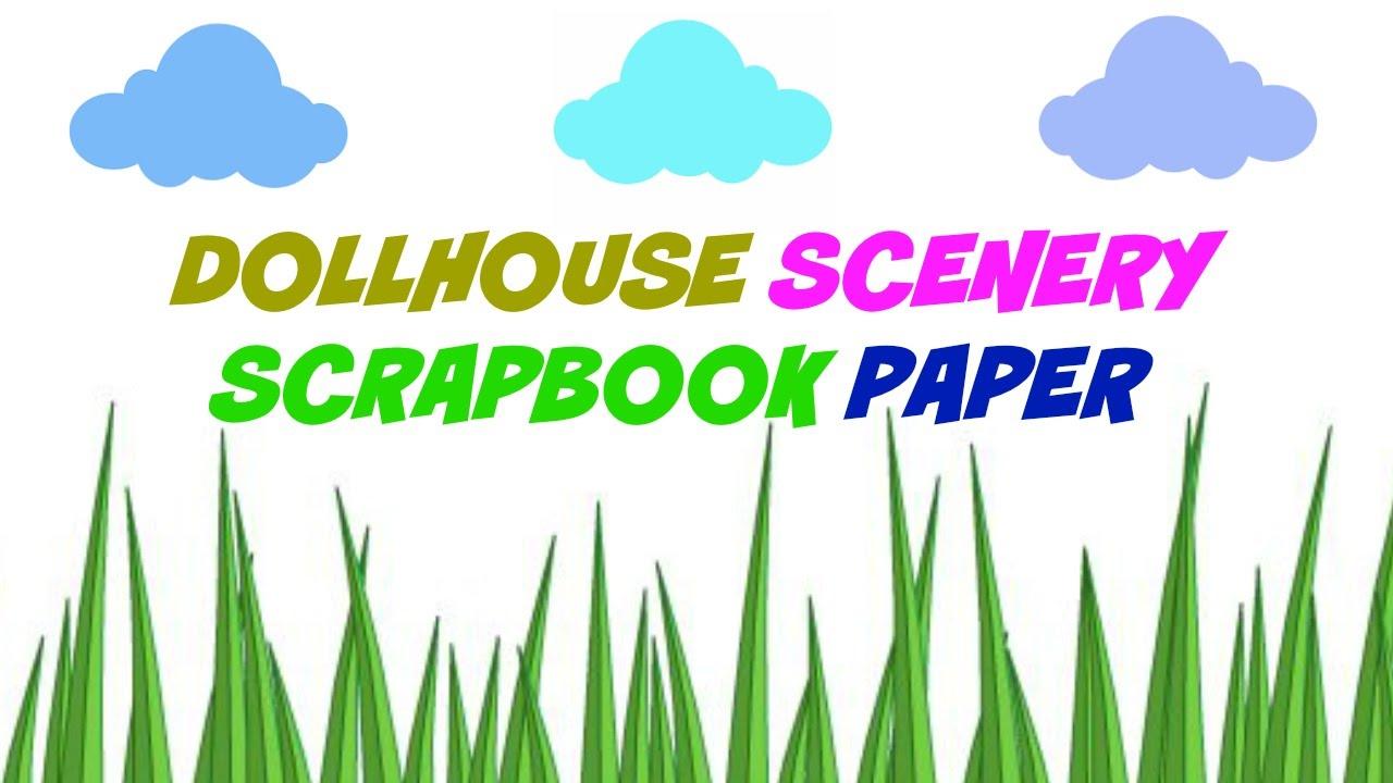 Scrapbook paper clouds - Diy Scrapbook Paper Clouds Grass