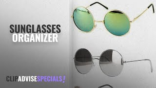 Top 10 Sunglasses Organizer [2018]: Younky Uv Protected Combo Of 3 Round Men